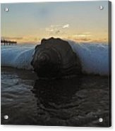 Conch Shell In Surf 3 10/17 Acrylic Print
