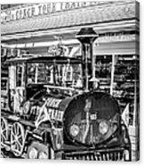 Conch Tour Train 1 Key West - Black And White Acrylic Print