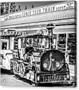 Conch Tour Train 2 Key West - Square - Black And White Acrylic Print