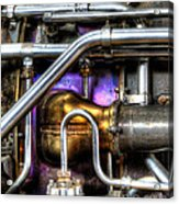 Concord Engine Hdr Acrylic Print by SteveHPhotos