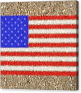 Concrete Flag Acrylic Print
