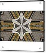 Concrete Flowers - Kaleidoscope - Pentaptych Acrylic Print