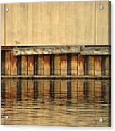 Concrete Wall And Water 2 Acrylic Print