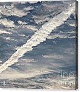 Condensation Trails - Contrails - Airplane Acrylic Print
