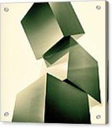 Condescending Cubes Acrylic Print by Bob Orsillo