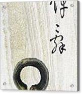 Condolences Tooji With Enso Zencircle Acrylic Print