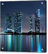 Condominium Buildings In Miami Acrylic Print