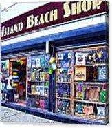 Coney Island Beach Shop Acrylic Print