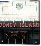 Coney Island Bmt Subway Station Acrylic Print