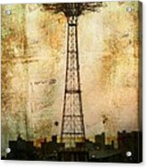 Coney Island Eiffel Tower Acrylic Print