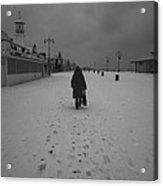Coney Island Winter Acrylic Print