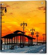 Coney Island Winter Sunset Acrylic Print