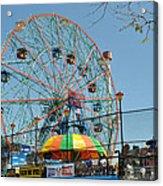 Coney Island Wonder Wheel Acrylic Print