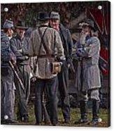 Confederate Civil War Reenactors With Rebel Confederate Flag Acrylic Print