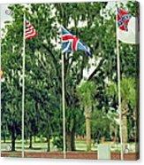 Confederate - Flags Of My Ancestors Acrylic Print