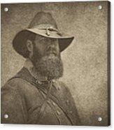 Confederate General Acrylic Print by Pat Abbott
