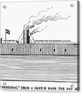 Confederate Ironclad, 1862 Acrylic Print