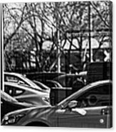 Confusing Commuter Reflections Acrylic Print