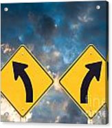 Confusing Road Signs Acrylic Print