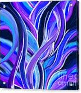 confusion Blue Acrylic Print