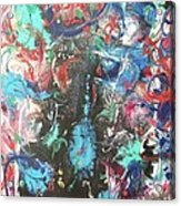 Confusion Dark Blue Acrylic Print