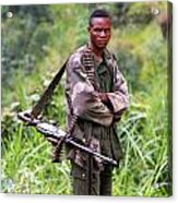 Congolese Soldier Standing Guard Acrylic Print