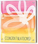 Congratulations- Greeting Card Acrylic Print by Linda Woods