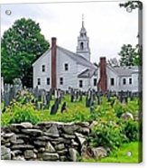 Congregational Church Cemetery Hollis Nh Acrylic Print by Janice Drew