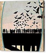 Congress Avenue Bridge Bats Acrylic Print