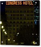 Congress Hotel In Chicago Acrylic Print