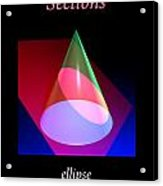 Conic Section Ellipse Poster Acrylic Print