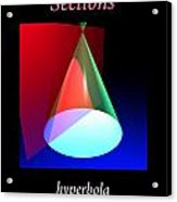 Conic Section Hyperbola Poster Acrylic Print