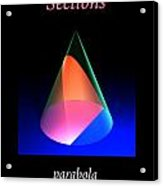 Conic Sections Parabola Poster 6 Acrylic Print