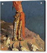 Conjuring Back The Buffalo Acrylic Print by Frederick Remington