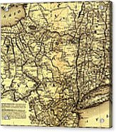 Connecticut And Western Railroad Map 1871 Acrylic Print