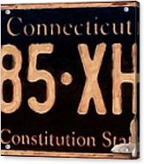 Connecticut License Plate Acrylic Print