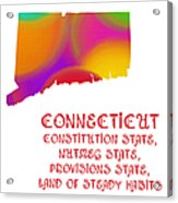 Connecticut State Map Collection 2 Acrylic Print