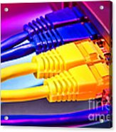 Connection Acrylic Print by Olivier Le Queinec