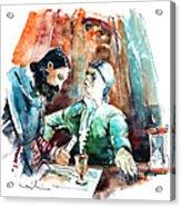 Conquistadores on The Boat in Vila do Conde in Portugal Acrylic Print
