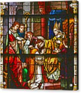 Consecration Of St Augustine Stained Glass Window Acrylic Print