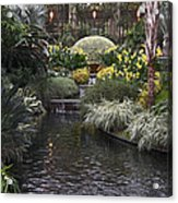 Conservatory In Autumn Acrylic Print