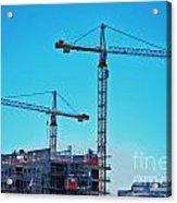 construction cranes HDR Acrylic Print