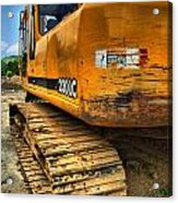Construction Excavator In Hdr 1 Acrylic Print