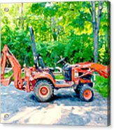 Construction Machinery Equipment 1 Acrylic Print