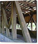 Construction Under The Roof - Jackson Covered Bridge Nh Acrylic Print