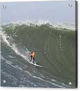 Contestant In The 2010 Mavericks Surf Contest Acrylic Print