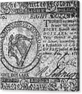 Continental Currency, 1777 Acrylic Print