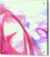 Contortion Pastel Abstract  Acrylic Print