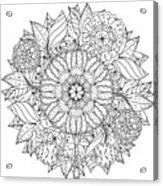 Contoured Mandala Shape Flowers For Acrylic Print