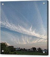 Contrail Clouds Acrylic Print